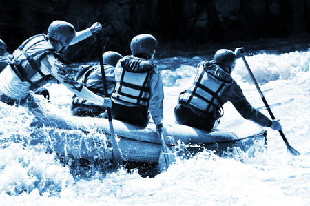 Rafting azure colors