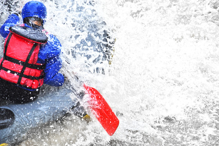 challenging: Rafting close up