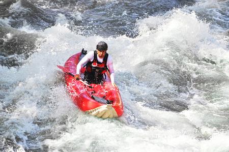 whitewater: White water kayaking as etreme and fun sport