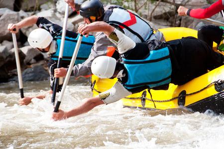 Professional rafting team photo