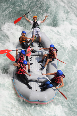 Kayaking as extreme and fun sport photo