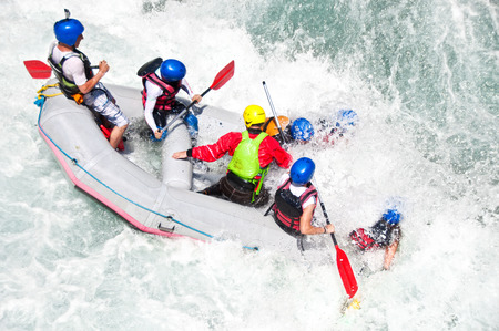 White water rafting Standard-Bild