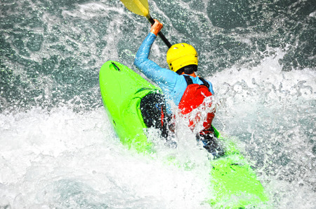 White water kayaking photo