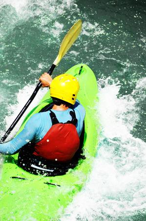 whitewater: White water kayaking