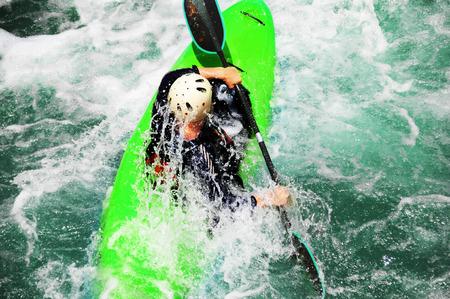 rafting: Kayaking as extreme and fun sport