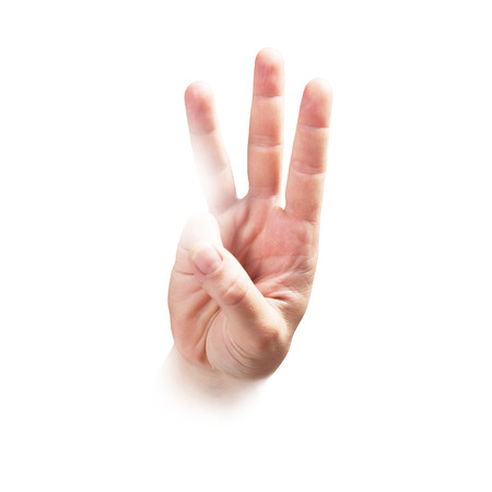 little finger: Hand expressing, series from one to five