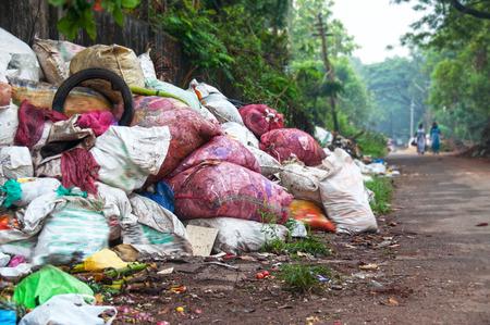 Illegal garbage dumb Stock Photo