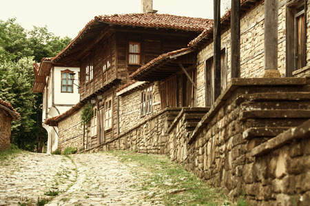 authentic: Old authentic Bilgarian house in  Architectural-Ethnographic Complex.Bulgaria