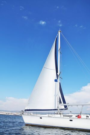 Yachting in the open sea. Stock Photo