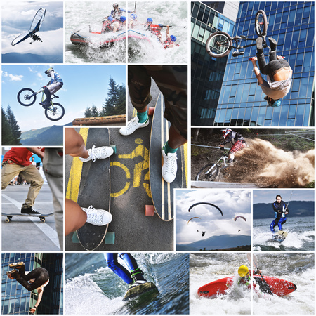 extreme sports: Extreme sports collage