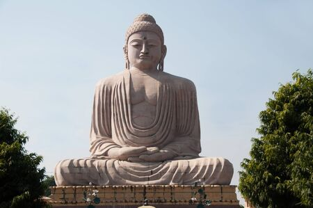 gaya: Great Buddha statue Bodh Gaya India Stock Photo