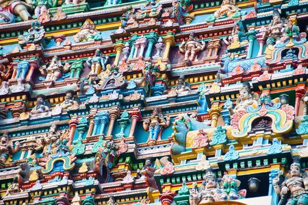 Fresque of an hindu tower temple
