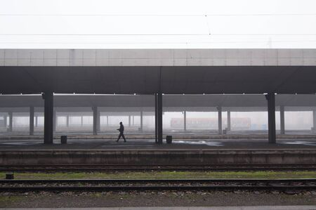 Misty morning at the Railway station