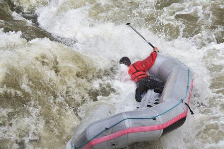 Rafting, Wellenreiten, extremes Rafting und Funsport Standard-Bild