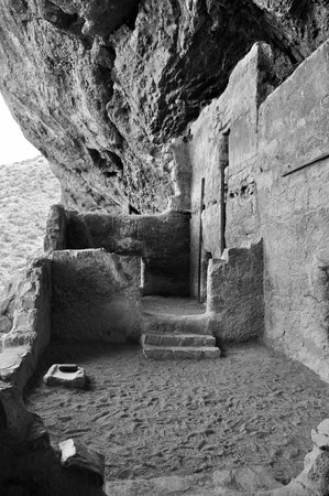 neighboring: Lower Cliff Dwelling - Tonto National Monument -The Salado People, 700 years ago, blended ideas of neighboring Native American cultures to emerge a unique and vibrant society.