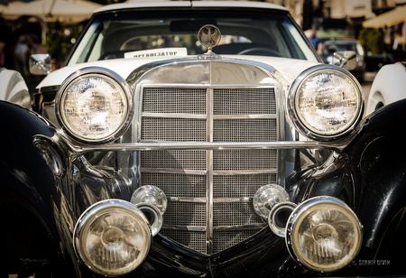 Lviv, Ukraine - June 12, 2015:Old retro car exhibited for participation in  festival Leopolis grand prix 2015, Ukraine.