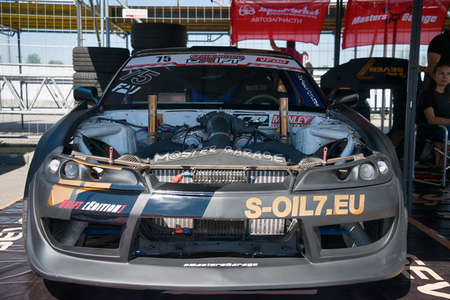 Lviv, Ukraine - June 10, 2017: The car is being prepared for racing. , in the championship of Ukraine drifting in Lviv, Ukraine.