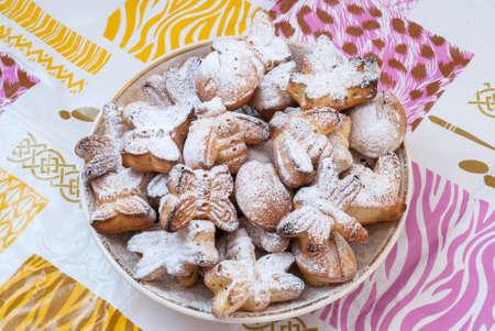 Sweet biscuit in powder homemade close-up Zdjęcie Seryjne