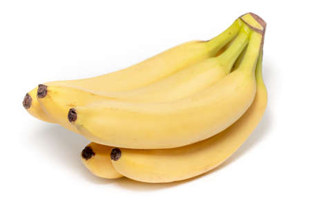 Bunch of bananas isolated on white background.