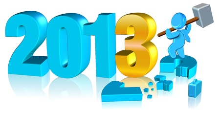 Happy new year 2013 Stock Photo - 13143370