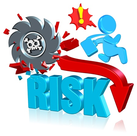 Investment risk Three dimension style and high quality Stock Photo