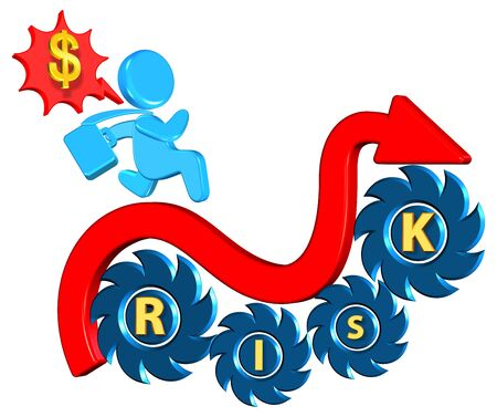 investment risk: Investment risk Business concept Three dimension style and high quality