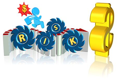 Investment risk Business concept Three dimension style and high quality photo