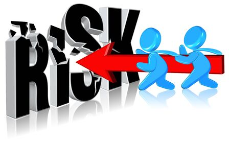 Investment riskBusiness conceptThree dimension styleand high quality Stock Photo - 13403702