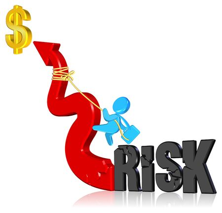 Investment riskBusiness conceptThree dimension styleand high quality