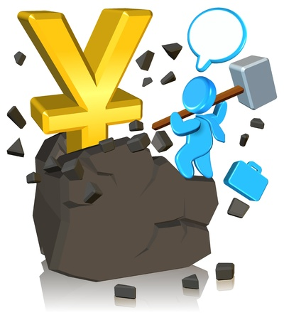Pursuing Money Three dimension style and High Quality Image Stock Photo