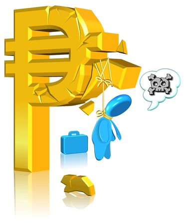 Unsuccessful Currency Business Three dimension style and High Quality Image Stock Photo