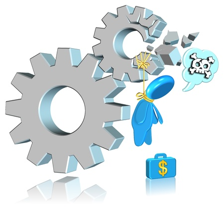 Failure Business Three dimension style and High Quality Image Stock Photo