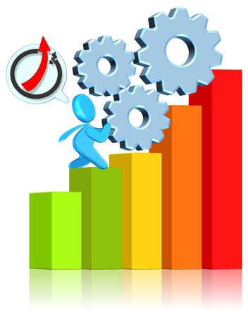 Business ChartThree dimension styleHigh Quality Image