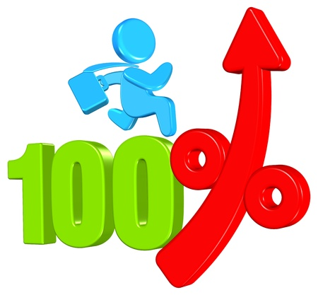Percentage Business Concept Three dimension style and High Quality Image Stock Photo
