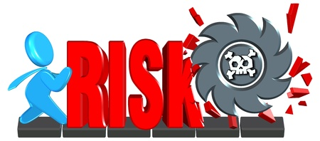 Investment risk Three dimension style and High Quality Image Stock Photo