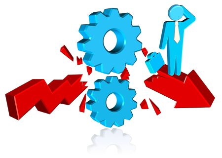 Business Solution Cogs Three dimension style and high quality image Stock Photo