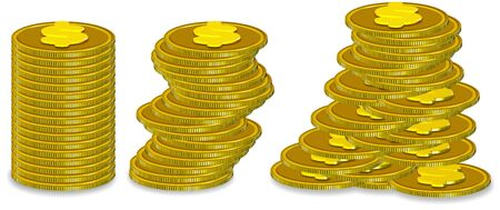 Stack Coin Three dimension style and high quality image Stock Photo