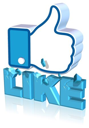Like icon Design Three dimension style and high quality image Stock Photo