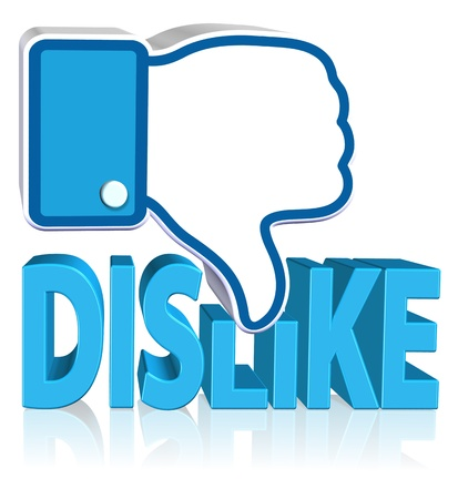 Dislike Sign Three dimension style and high quality image
