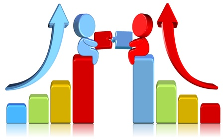 Increasing Business Chart Three dimension style and high quality image Stock Photo