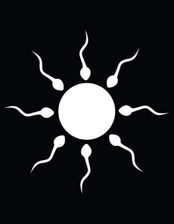 espermatozoides: El blanco y negro sol de esperma