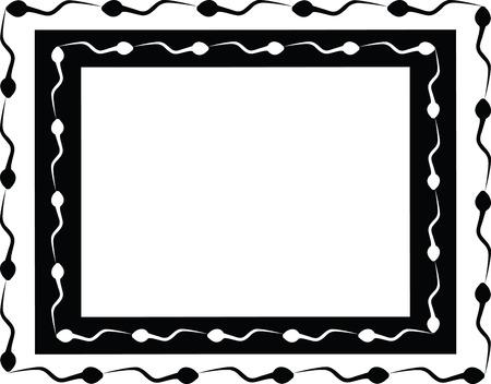the black and white sperm frame Stock Vector - 3429503