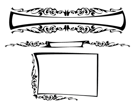 gothic design: the gothic frame Illustration