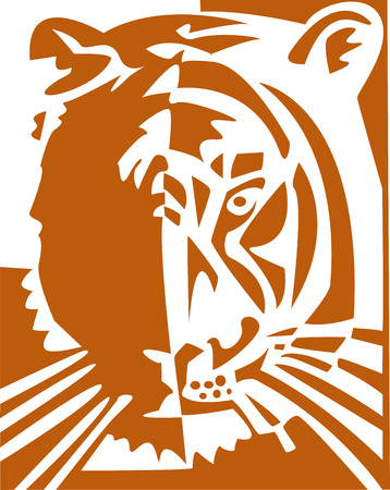 the vector tiger Stock Vector - 3439098