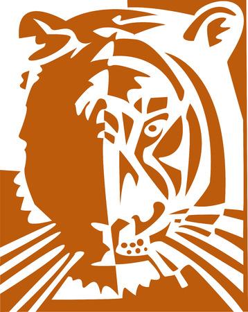the vector tiger Stock Vector - 3439098