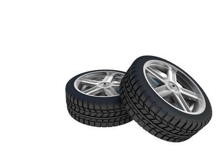 3d car wheel photo