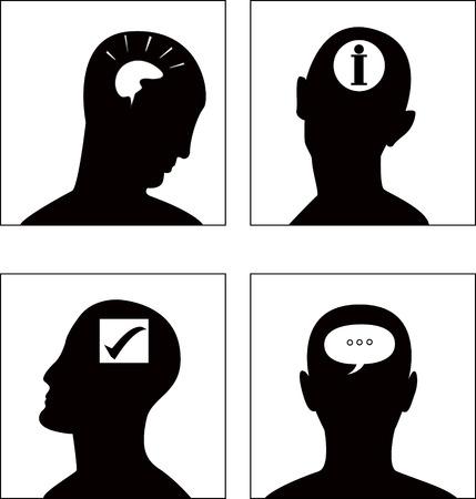man vrouw symbool: de vector hoofd symbolenset (EPS8)
