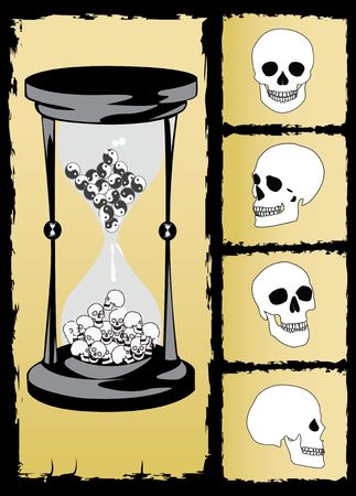 svg: the concept hourglass and skull vector image AI EPS 8 SVG