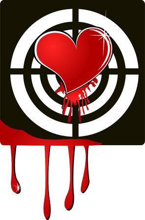 vector target heart EPS 8