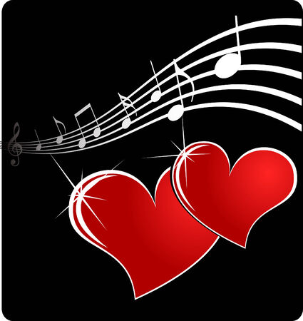 vector music heart EPS 8 Vector